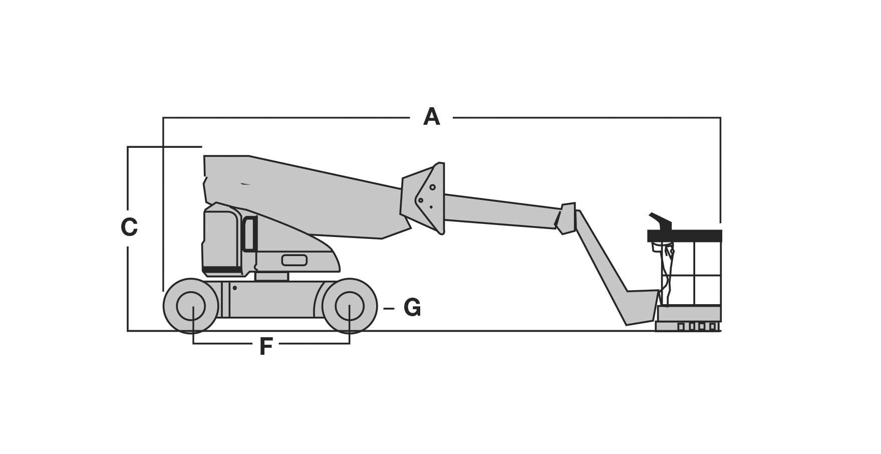 Piattaforma aerea articolata elettrica AE12_1
