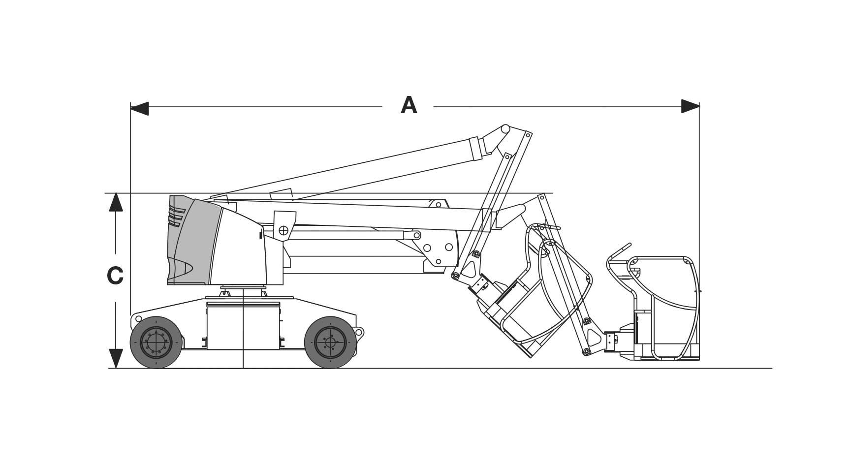 Piattaforma aerea articolata elettrica AE13_1