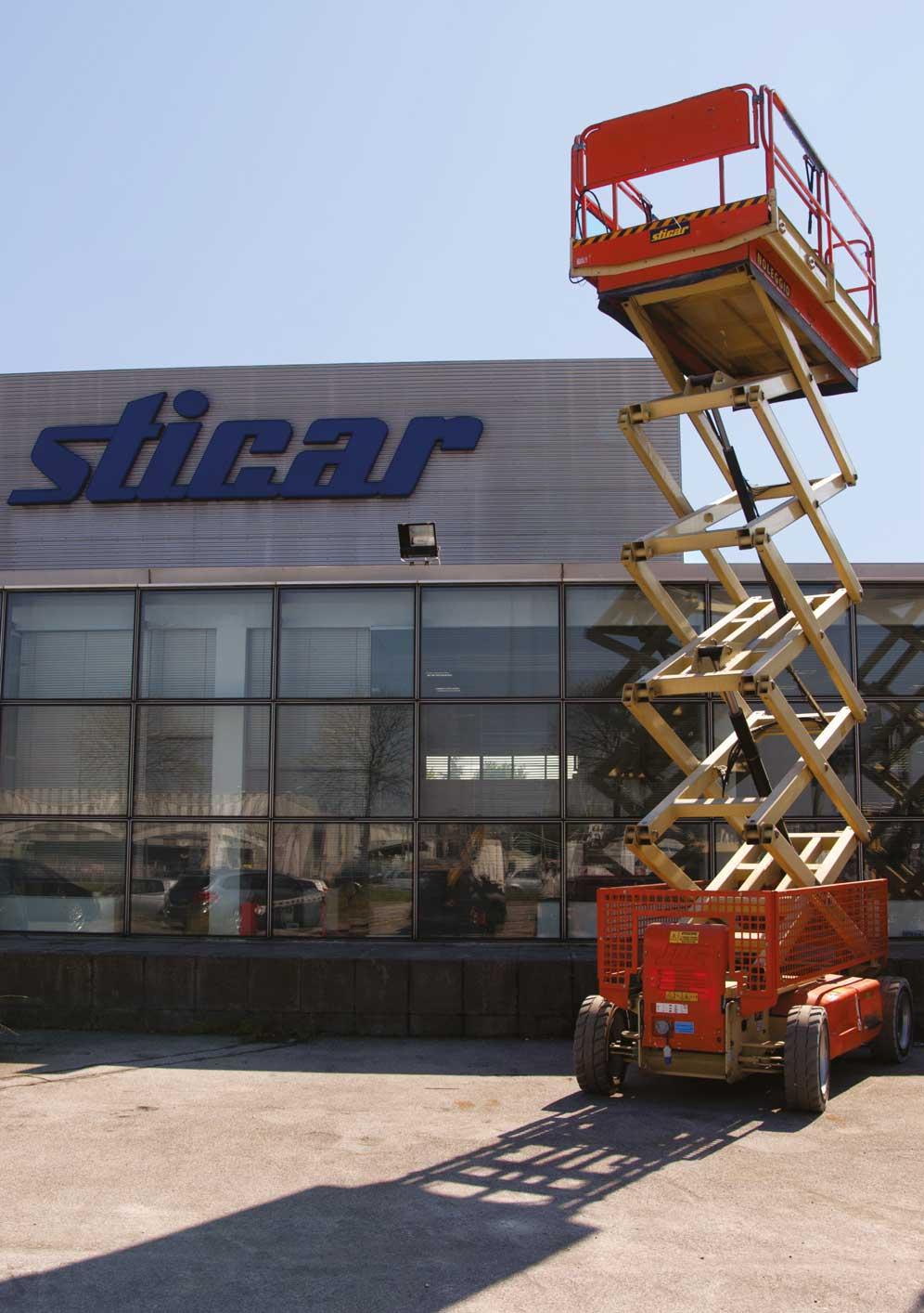Sticar - Noleggio piattaforme aeree verticali elettriche