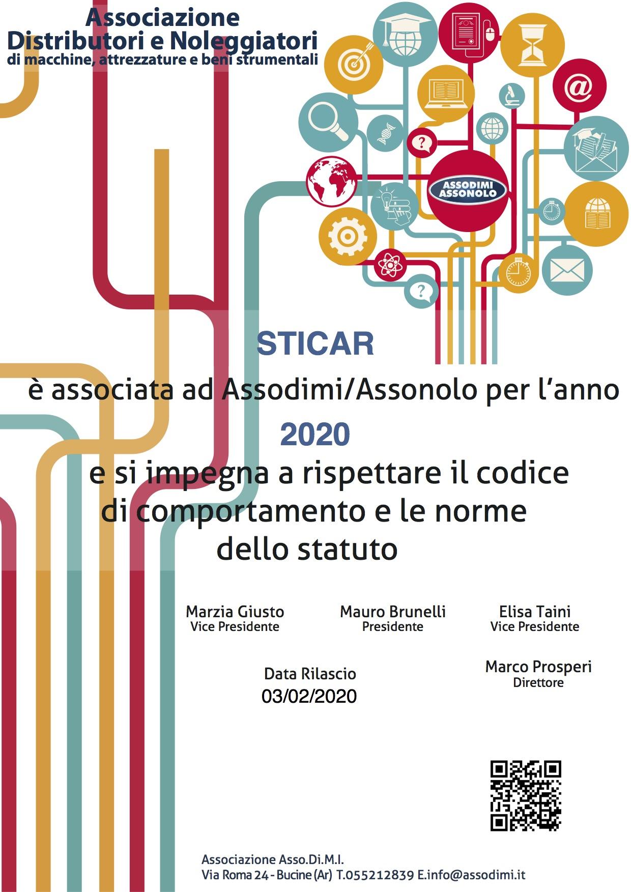 Attestato Assodimi 2020